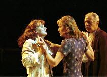 ALL MY SONS   by Arthur Miller   director: Howard Davies <br> ~l-r: Julie Walters (Kate Keller), Catherine McCormack (Ann Deever), James Hazeldine (Joe Keller)~Cottesloe Theatre, National Theatre (NT)...