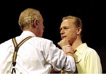 ALL MY SONS   by Arthur Miller   director: Howard Davies <br> ~l-r: James Hazeldine (Joe Keller), Ben Daniels (Chris Keller) ~Lyttelton Theatre, National Theatre (NT), London SE1  07/08/2001 ~(c) Dona...