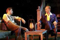 ALL MY SONS   by Arthur Miller   director: Howard Davies <br> ~l-r: Charles Edwards (George Deever), Ben Daniels (Chris Keller) ~Lyttelton Theatre, National Theatre (NT), London SE1  07/08/2001 ~(c) D...