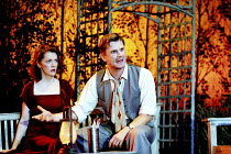 ALL MY SONS   by Arthur Miller   director: Howard Davies <br> ~Madeleine Potter (Ann Deever), Charles Edwards (George Deever) ~Lyttelton Theatre, National Theatre (NT), London SE1  07/08/2001 ~(c) Don...