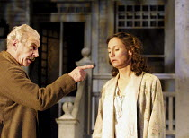 ALL MY SONS   by Arthur Miller   director: Howard Davies <br> ~James Hazeldine (Joe Keller), Laurie Metcalf (Kate Keller) ~Lyttelton Theatre, National Theatre (NT), London SE1  07/08/2001 ~(c) Donald...