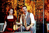 ALL MY SONS   by Arthur Miller   director: Howard Davies <br> ~Madeleine Potter (Ann Deever), Charles Edwards (George Deever) ~National Theatre (NT), Lyttelton Theatre, London SE1  07/08/2001 ~(c) Don...