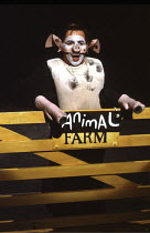 'ANIMAL FARM' (George Orwell/adapted by Peter Hall),Barrie Rutter (Napoleon),Cottesloe Theatre /National Theatre   London  25/04/1984,