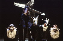'ANIMAL FARM' (George Orwell/adapted by Peter Hall),,Cottesloe Theatre /National Theatre   London  25/04/1984,