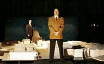 'ALBERT SPEER' (Edgar/Sereny),standing in a model of 'Germania'. l-r: Alex Jennings (Albert Speer), Roger Allam (Adolf Hitler),RNT/Lyttelton Theatre, London  25/05/2000,