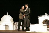'ALBERT SPEER' (Edgar/Sereny),l-r: Roger Allam (Adolf Hitler), Alex Jennings (Albert Speer),RNT/Lyttelton Theatre, London  25/05/2000,