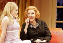 l-r: Madeleine Worrall (Shirley), Sheila Hancock (Mum) in THE ANNIVERSARY by Bill MacIlwraith at the Garrick Theatre, London WC2  27/01/2005  a Liverpool Everyman production   design: Robin Don  ligh...