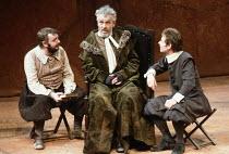 DON QUIXOTE   by Keith Dewhurst, after Cervantes   director: Bill Bryden <br>,l-r: Tony Haygarth (Sancho Panza), Paul Scofield (Don Quixote de la Mancha), Karl Johnson (Samson Carrasco),Olivier Theatr...