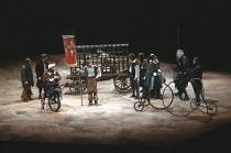 DON QUIXOTE   by Keith Dewhurst, after Cervantes   director: Bill Bryden <br>,front left: Tony Haygarth (Sancho Panza)   front far right: Paul Scofield (Don Quixote de la Mancha),Olivier Theatre / Nat...