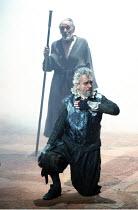 DON QUIXOTE   by Keith Dewhurst, after Cervantes   director: Bill Bryden <br>,kneeling: Paul Scofield (Don Quixote de la Mancha)   rear: J G Devlin (Juan Haldudo of Quintanar),Olivier Theatre / Nation...