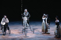 DON QUIXOTE   by Keith Dewhurst, after Cervantes   director: Bill Bryden <br>,left: Tony Haygarth (Sancho Panza)   centre: Paul Scofield (Don Quixote de la Mancha),Olivier Theatre / National Theatre,...