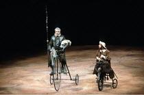 DON QUIXOTE   by Keith Dewhurst, after Cervantes   director: Bill Bryden <br>,l-r: Paul Scofield (Don Quixote de la Mancha), Tony Haygarth (Sancho Panza),Olivier Theatre / National Theatre, London SE1...