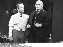 'THE ICEMAN COMETH' (Eugene O'Neill - director: Howard Davies),l-r: Ian Holm (Hickey), Norman Rodway (Harry Hope),Royal Shakespeare Company / Aldwych Theatre, London WC2            1976...