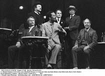 'THE ICEMAN COMETH' (Eugene O'Neill - director: Howard Davies)~l-r: Richard Simpson (Cecil Lewis), Larry Hoodekoff (Moran), Cy Grant (Joe Mott), Ian Holm (Hickey), Karl Held (Lieb), Harry Towb (Mosher...