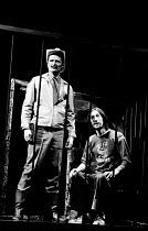 'ILLUMINATUS!' (directed by Ken Campbell & Chris Langham),l-r: James (Jim) Broadbent (Sherrif Jim Cartwright of Mad Dog, Texas), Chris Langham (George Dorn),Science Fiction Theatre of Liverpool   Cott...
