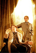 'THE JUDAS KISS' (David Hare),l-r: Liam Neeson (Oscar Wilde), Tom Hollander (Lord Alfred Douglas),Almeida Theatre production / Playhouse Theatre, London WC2                   19/03/1998,