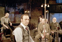 THE ICEMAN COMETH   by Eugene O^Neill   design: Bob Crowley   director: Howard Davies ,front centre: Kevin Spacey (Theodore Hickman / Hickey)     ,Almeida Theatre, London N1                      14/04...
