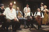 THE ICEMAN COMETH   by Eugene O^Neill   design: Hayden Griffin   lighting: Andy Phillips   director: Bill Bryden ,front, l-r: Frederick Treves (Cecil Lewis / The Captain), Jack Shepherd (Theodore Hick...