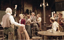 THE ICEMAN COMETH   by Eugene O^Neill   design: Bob Crowley   director: Howard Davies ,rear centre, l-r: : Emily Morgan (Cora), Lisa Palfrey (Margie), Kevin Spacey (Theodore Hickman / Hickey), Holly A...