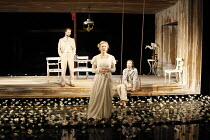 THE LADY FROM THE SEA   by Henrik Ibsen   adapted by Mike Poulton   design: Mike Britton   director: Lucy Bailey <br>,l-r: Simon Scardifield (Dr Arnholm), Claire Price (Ellida Wangel), Tom Vaughan-Law...