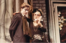 HAPGOOD   by Tom Stoppard   design: Carl Toms   lighting: David Hersey   director: Peter Wood ,Iain Glen (Ridley), Felicity Kendal (Hapgood)  ,Aldwych Theatre, London WC2   08/03/1988  ~(c) Donald Coo...