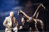 HAPGOOD   by Tom Stoppard   design: Carl Toms   lighting: David Hersey   director: Peter Wood ,l-r: Nigel Hawthorne (Blair), Roger Rees (Kerner),Aldwych Theatre, London WC2   08/03/1988  ~(c) Donald C...