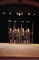 ANTIGONE   written & directed by Declan Donnellan   after Sophocles   ,design: Nick Ormerod ,chorus,The Old Vic, London SE1         11/10/1999   ,