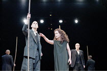 ANTIGONE   written & directed by Declan Donnellan   after Sophocles   design: Nick Ormerod <br>,centre: Tara Fitzgerald (Antigone),The Old Vic, London SE1         11/10/1999   ,