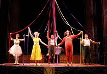 PUNCH AND JUDY   composer: Harrison Birtwistle   librettist: Stephen Pruslin   ,conductor: Michael Rafferty   design: Simon Banham   lighting: Ace McCarron   director: Michael McCarthy <br>,l-r: Carol...