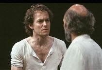 HIPPOLYTUS   by David Rudkin   after Euripides   design: Ralph Koltai   director: Ron Daniels <br>,l-r: Michael Pennington (Hippolytus), Patrick Stewart (Theseus),Royal Shakespeare Company (RSC) / The...