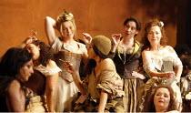 CARMEN   by Bizet   conductor: Daniel Oren   design: Tanya McCallin   lighting: Paule Constable   original director: Francesca Zambello <br> ,tobacco factory women workers / chorus,The Royal Opera (RO...