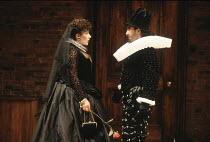 THE ALCHEMIST   by Ben Jonson   design: Anthony Ward   director: Sam Mendes <br>   ,Jane Gurnett (Dame Pliant), Barry Lynch (Surly),Royal Shakespeare Company / Swan Theatre     Stratford-upon-Avon...