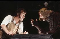 THE ALCHEMIST   by Ben Jonson   design: Roger Glossop   director: Griff Rhys Jones <br>   ,l-r:  Gavin Richards (Face), Stephen Moore (Subtle), ,Lyric Hammersmith (LTH), London W6    09/09/1985...