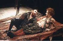 THE REVENGER^S TRAGEDY   by Cyril Tourneur   design: Michael Levine   director: Di Trevis <br>,l-r: Antony Sher (Vindice), Nicholas Farrell (Lussurioso),Royal Shakespeare Company (RSC) / Swan Theatre...