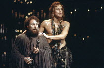 THE REVENGER^S TRAGEDY   by Cyril Tourneur   design: Michael Levine   director: Di Trevis <br>,l-r: Antony Sher (Vindice), Nicholas Farrell (Lussurioso),Royal Shakespeare Company (RSC) / Pit Theatre,...