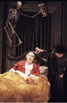 VOLPONE   or The Fox   by Ben Jonson   design: Richard Hudson   director: Matthew Warchus    l-r: Michael Gambon (Volpone), Robin Soans (Corvino)  Olivier Theatre / National Theatre (NT), London SE1...