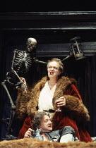 VOLPONE   or The Fox   by Ben Jonson   design: Richard Hudson   director: Matthew Warchus    top: Michael Gambon (Volpone)   below: Simon Russell Beale (Mosca)  Olivier Theatre / National Theatre (N...