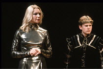 EDWARD II   by Christopher Marlowe   design: Sandy Powell   director: Gerard Murphy <br>,Katy Behean (Queen Isabella), Callum Dixon (Prince Edward) ,Royal Shakespeare Company (RSC) / Swan Theatre, Str...