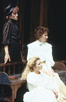 THREE SISTERS   by Anton Chekhov   ,set design: Timothy O'Brien   costumes: Louise Belson   director: John Barton <br>,left: Harriet Walter (Masha)   (above) Deborah Findlay (Olga)   (below) Stella Go...