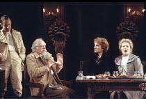 THREE SISTERS   by Anton Chekhov   set design: Timothy O'Brien   costumes: Louise Belson   director: John Barton <br>,l-r: Nicholas O'Farrell (Tusenbach), Joseph O'Conor (Chebutykin),  Harriet Walter...