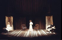 THREE SISTERS   by Anton Chekhov   set design: Timothy O'Brien   costumes: Louise Belson   director: John Barton <br>,l-r: Stella Gonet (Irina), Deborah Findlay (Olga), Harriet Walter (Masha),Royal Sh...