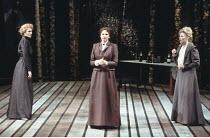 THREE SISTERS   by Anton Chekhov   set design: Timothy O'Brien   costumes: Louise Belson   director: John Barton <br>,l-r: Harriet Walter (Masha), Deborah Findlay (Olga), Stella Gonet (Irina),Royal Sh...