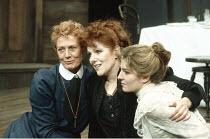 THREE SISTERS   by Anton Chekhov   design: Giorgi Meskhishvili   director: Robert Sturua <br>,l-r: Vanessa Redgrave (Olga), Lynne Redgrave (Masha), Jemma Redgrave (Irina)   ,Queen^s Theatre   London W...