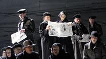 MACBETH  by Verdi  after Shakespeare  conductor: Richard Farnes  set design: Johan Engels  costumes: Brigitte Reiffenstuel  director: Tim Albery ~chorus~Opera North, Leeds, England  23/04/2008
