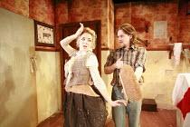 TINDERBOX   by Lucy Kirkwood   design: Lucy Osborne   director: Josie Rourke <br>,Sheridan Smith (Vanessa), Bryan Dick (Perchik),Bush Theatre, London W12     28/04/2008                  ,