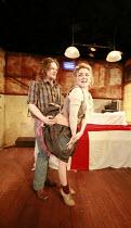 TINDERBOX   by Lucy Kirkwood   design: Lucy Osborne   director: Josie Rourke <br>,Bryan Dick (Perchik), Sheridan Smith (Vanessa),Bush Theatre, London W12     28/04/2008                  ,
