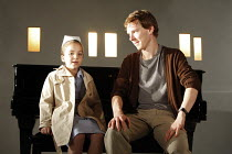 THE CITY   by Martin Crimp   design: Vicki Mortimer   lighting: Paule Constable   director: Katie Mitchell <br>,Matilda Castrey (Girl), Benedict Cumberbatch (Chris),Jerwood Theatre Downstairs / Royal...