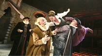 THE TAMING OF THE SHREW   by Shakespeare   set design: Francis O^Connor   costumes: Joan O^Clery   director: Conall Morrison <br>,I/i - l-r: David Hargreaves (Baptista Minola), Peter Shorey (Gremio),...