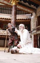 KING LEAR   by Shakespeare   design: Jonathan Fensom   director: Dominic Dromgoole <br>,V/iii - l-r: Paul Copley (Kent), Jodie McNee (Cordelia), David Calder (King Lear)   ,Shakespeare^s Globe (SG), L...