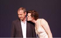 THAT FACE   by Polly Stenham   design: Mike Britton   director: Jeremy Herrin <br>,l-r: Julian Wadham (Hugh), Matt Smith (Henry),Royal Court Theatre production / Duke of York^s Theatre, London WC2  09...